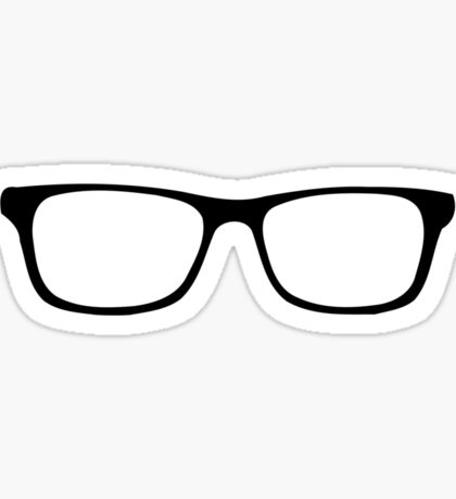 Nerdy Glasses Nerd Geek Sticker