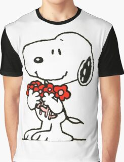 Snoopy Flowers Graphic T-Shirt