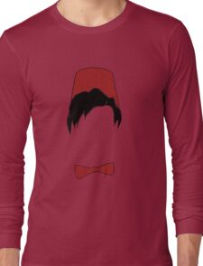 Eleventh doctor fez and bowtie Long Sleeve T-Shirt