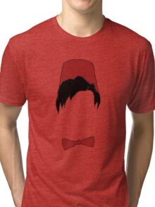 Eleventh doctor fez and bowtie Tri-blend T-Shirt