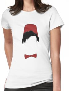 Eleventh doctor fez and bowtie Womens Fitted T-Shirt