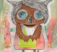 'I Am A Quiet Owl' Mixed Media by Beatrice Ajayi by Beatrice  Ajayi