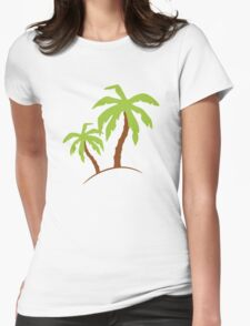 Palm Trees Womens Fitted T-Shirt