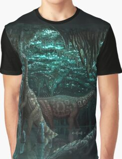 Bioluminescent dinosaur cave Graphic T-Shirt