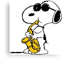 Snoopy Plays Sax Canvas Print