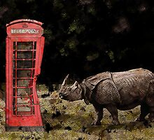 Wrong Number - Rhino vs Phone Booth by Galen Valle