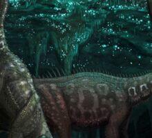Bioluminescent dinosaur cave Sticker