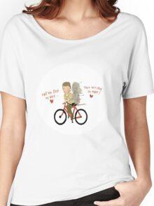 the walking heart/bike Women's Relaxed Fit T-Shirt