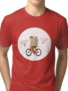 the walking heart/bike Tri-blend T-Shirt