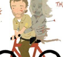 the walking dead heart/bike Sticker