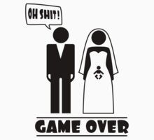 Wedding with baby inside - oh shit - game over by Cheesybee