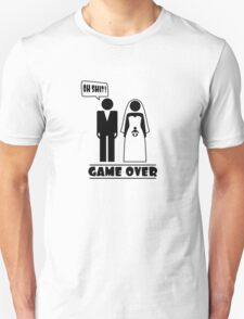 Wedding with baby inside - oh shit - game over T-Shirt