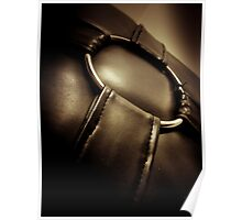 Abstract Leather Pillow Poster