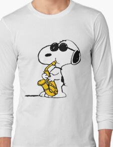 Snoopy Plays Sax Long Sleeve T-Shirt
