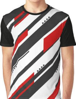Black-Red Adrenaline Graphic T-Shirt