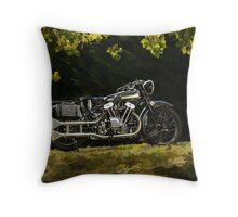 Brough Superior SS 100  Throw Pillow