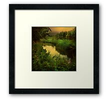 """Evening Brook"" Framed Print"