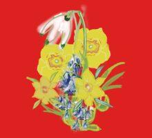 SPRING CORNUCOPIA TEE SHIRT/ BABY GROW, One Piece - Short Sleeve