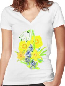 SPRING CORNUCOPIA TEE SHIRT/ BABY GROW, Women's Fitted V-Neck T-Shirt