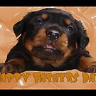 Cute Rottweiler Happy Fathers Day Greetings by taiche