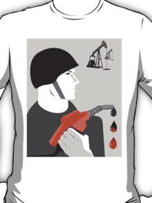 A Drop of Blood for a Drop of Oil Anti War Political T-shirt  T-Shirt