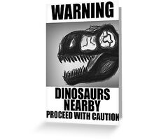 Design 5: Dinosaurs Nearby Greeting Card