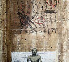HOMBRE PREGUNTANDOLE A DIOS EL TIEMPO EN LA QUE HA DE MORIR (man asking God the time he is about to die) by Alvaro Sánchez