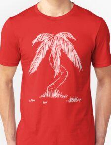 Design 8: White Palm Tree T-Shirt