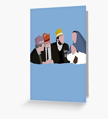 Bottom Christmas design Greeting Card
