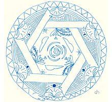 Oroboros Mandala Photographic Print