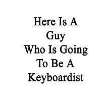 Here Is A Guy Who Is Going To Be A Keyboardist  Photographic Print