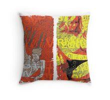 Incarnata Diptych #17 Throw Pillow