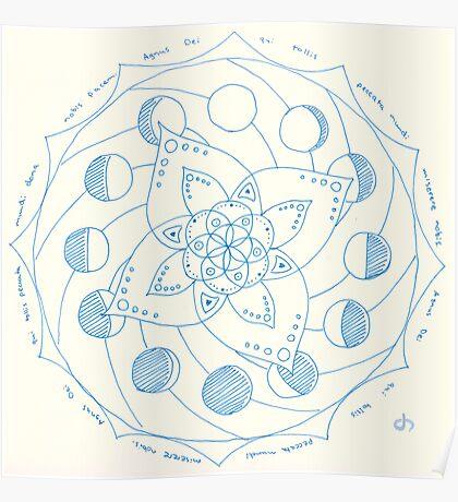 Dona Nobis Pacem Mandala Poster