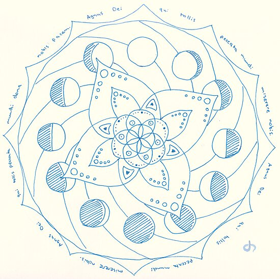 Dona Nobis Pacem Mandala by Daniel ML