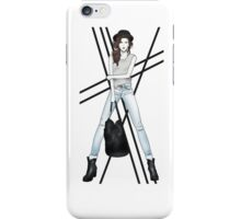 Fashion Illustration - Rock Chick iPhone Case/Skin