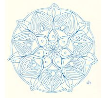 Pearls Mandala Photographic Print