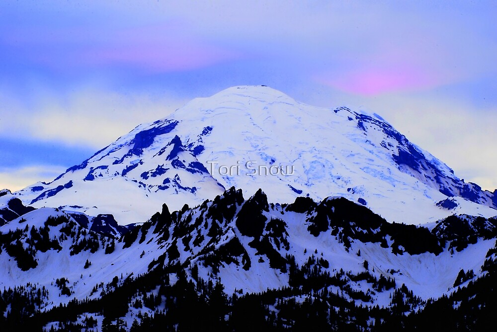 Mt Rainier from Chinook by Tori Snow