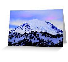 Mt Rainier from Chinook Greeting Card