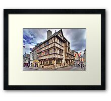 The oldest half-timbered house in Bayeux (13th c) Framed Print