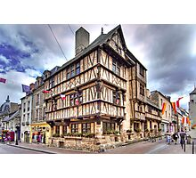 The oldest half-timbered house in Bayeux (13th c) Photographic Print