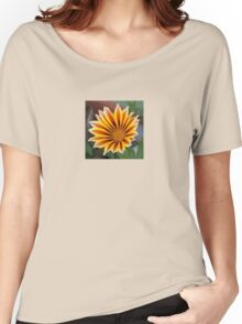 Single Flower Close Up Gazania Red Stripe Women's Relaxed Fit T-Shirt