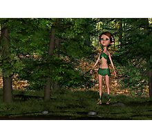 Forest Elf Girl Photographic Print