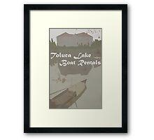 Toluca Lake Boat Rentals Framed Print