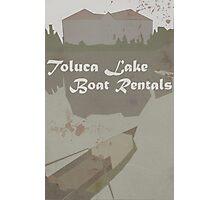 Toluca Lake Boat Rentals Photographic Print