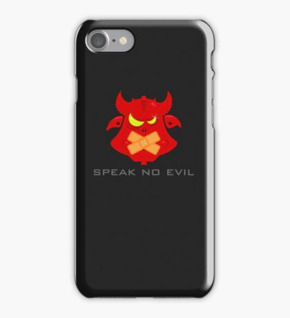 Speak no evil VRS2 iPhone Case/Skin