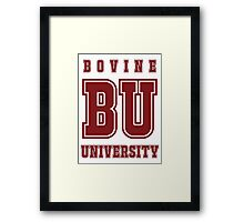 Bovine University - Simpsons Framed Print