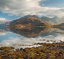 Five Sisters of Kintail in early November. Loch Duich. North West Highlands. Scotland. by photosecosse /barbara jones