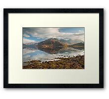 Five Sisters of Kintail in early November. Loch Duich. North West Highlands. Scotland. Framed Print