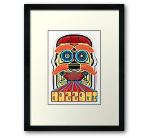 Bad Robot - HAZZAH! Framed Print