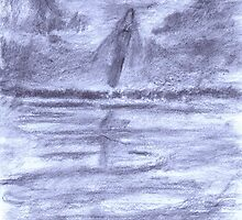 Figure By Lake by George Coombs
